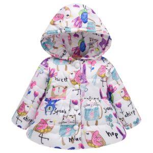 Dlouhá dívčí péřová bunda