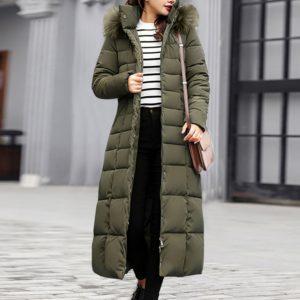 Dámská luxusní zimní dlouhá bunda Nicol