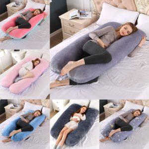 Příjemný těhotenský spací polštář