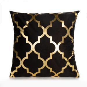 Dekorativní povlak na polštář se zlatými ornamenty