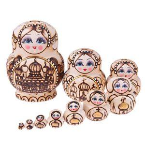 Dřevěné ozdobné ruské panenky Matrjošky