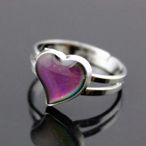 Nastavitelný dámský magický prsten se srdcem