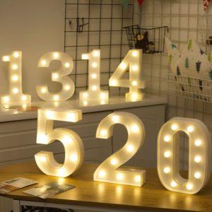 Svítící LED číslice