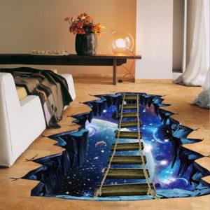 Vesmírná 3D samolepka na podlahu (01)