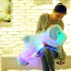LED svítící pejsek - plyšová hračka