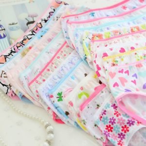 Set dívčích bavlněných kalhotek