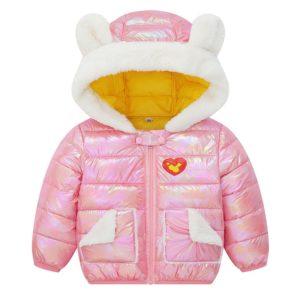 Dívčí zimní teplá bunda