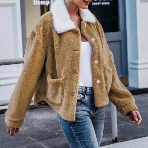 Dámská luxusní zimní plyšová bunda Leela