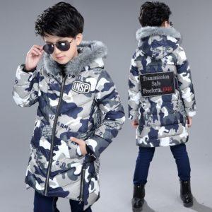 Chlapecká cool prošívaná maskáčová bunda Deverell