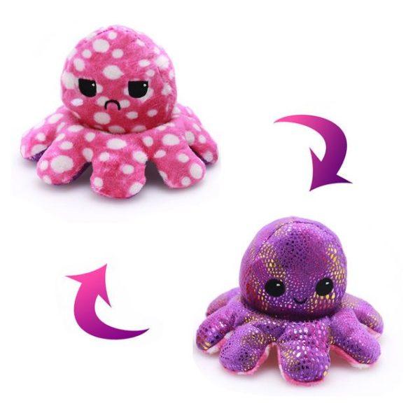 Oboustranná plyšová chobotnice ve více variantách