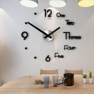 Moderní nástěnné samolepící 3D hodiny