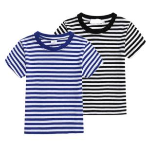Dětské tričko s proužky a krátkým rukávem