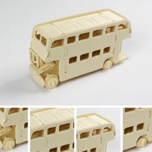 3D dřevěný autobus - skládačky pro děti