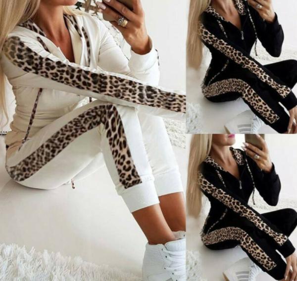 Nádherná dámská tepláková souprava s leopardím vzorem
