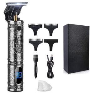 Profesionální zastřihovač vlasů a vousů s indikátorem stavu baterie