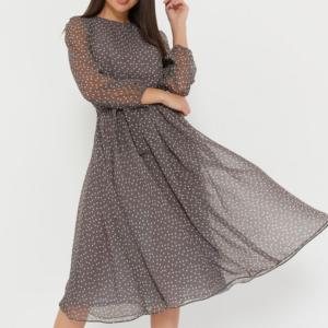 Dámské elegantní šaty s dlouhým rukávem
