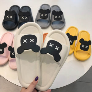 Dámské pohodlné pantofle s medvídkem