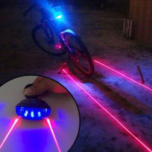 Vodotěsné cyklistické zadní LED světlo