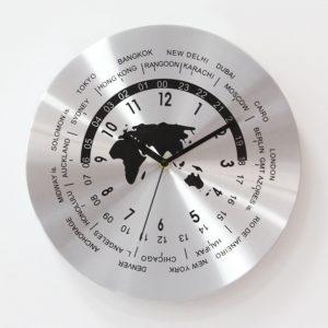 Designové nástěnné hodiny - Časová pásma