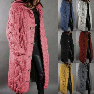 Dámská dlouhý pletený svetr