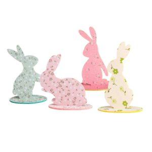 Velikonoční barevní králíčci - po čtyřech kusech