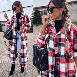 Jarní dámský košilový kabátek