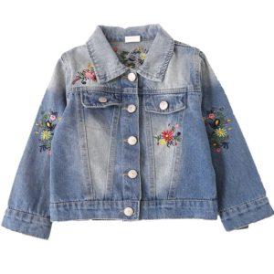 Dívčí džínová bunda s výšivkou
