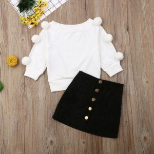 Dívčí podzimní set se sukní