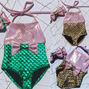 Luxusní dětské plavky ve vzoru mořské panny