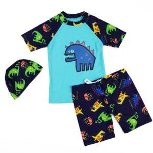 Dětský set kraťas a trika s dlouhým rukávem na koupání