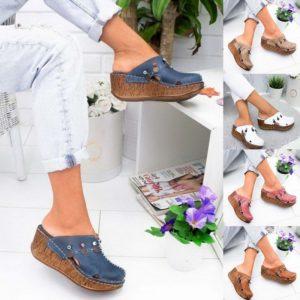 Dámské letní sandály s kulatou špičkou