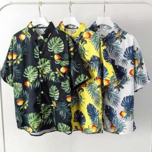 Pánská plážová košile v havajském stylu