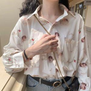 Dámská elegantní volná vintage košile