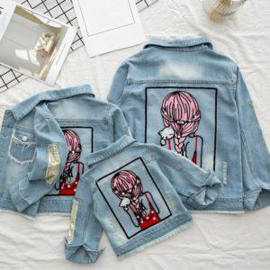 Dětská dívčí džínová bunda