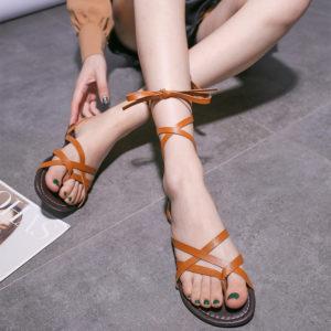 Sandálky - dámské letní lehké plážové sandálky Elena