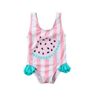Dětské dívčí jednodílné plavky s obrázkem melounu