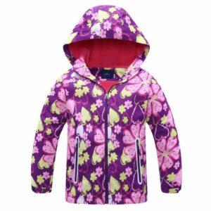 Dívčí jarní bunda s květinami
