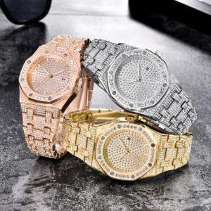 Luxusní pánské safírové hodinky TOPGRILLZ