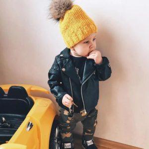 Chlapecká módní koženková jarní bunda - křivák