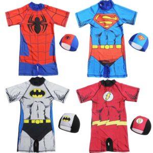Chlapecké plážové oblečení se superhrdiny s čepicí
