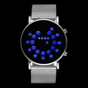 Binární LED hodinky pro pány - 2 barvy