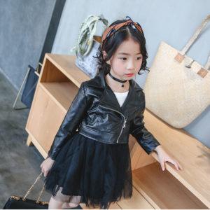 Dívčí kožená bunda - 2 barvy