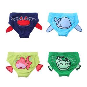 Dětské kojenecké - batolecí plavky s potiskem vodních zvířátek