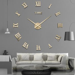Dekorační nalepovací stylové hodiny do domácnosti