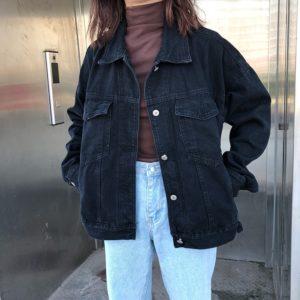 Dámská oversize džínová bunda