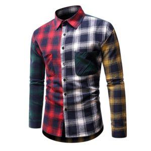 Pánská moderní kostkovaná košile Michael