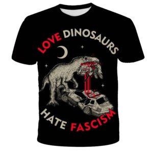 Dětské módní tričko s krátkým rukávem a potiskem dinosaura