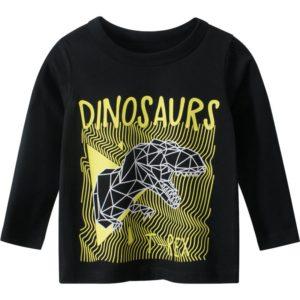 Chlapecké tričko s dlouhým rukávem a potiskem dinosaura