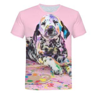 Dětské roztomilé tričko s potiskem roztomilých mazlíčků