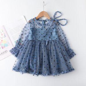 Síťované princeznovské dívčí šaty